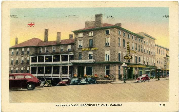The Revere House Hotel Brockville Ontario Canada Pm 1954