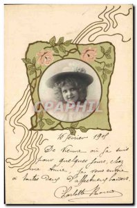 Postcard Fantasy Flowers Old Child