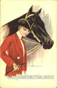 Artist Signed Nanni 1920 crease left bottom corner, light corner wear