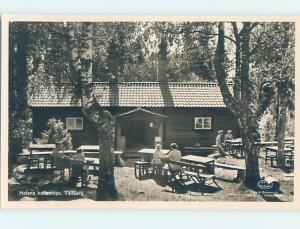 old rppc TABLES AND CHAIRS Tallberg - Leksand - Dalarna County Sweden HM1996