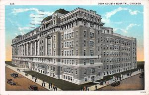 Cook County Hospital, Chicago, Illinois, Early Postcard, Used in 1929