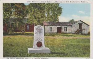 Wyoming Fort Bridger Monument Prairie Schooner Museum And Old Headquarters Bu...