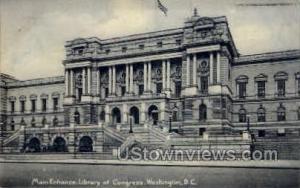 Main Entrance, Library of Congress Washington DC DC 1907