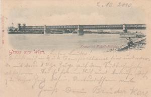 Bridge, Kronprinz Rudolf-Brucke, Gruss Aus Wien (Vienna), Austria, PU-1899