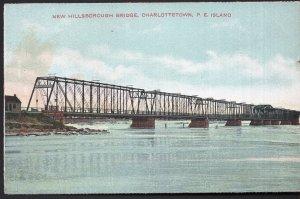 Prince Edward Island CHARLOTTETOWN New Hillsborough Bridge - Divided Back