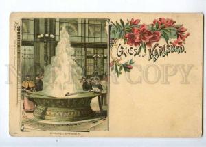 232875 CZECH Karlovy Vary GRUSS aus KARLSBAD Vintage postcard