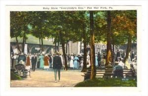 Baby Show  Everybody's Day,  Pen Mar Park, Pennsylvania, 1900-1910s