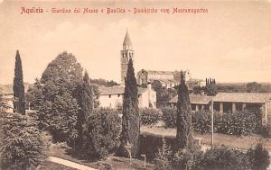 Italy Old Vintage Antique Post Card Giardino del Museo e Basilica Aquileia Un...