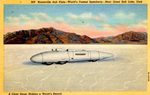 Salt Lake City, Utah - Bonneville Salt Flats - World's Fastest Speedway - 1940s