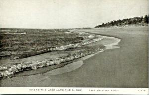 Illinois~Lake Michigan~Where the lake Laps the Shore~1930s CR Childs N-418