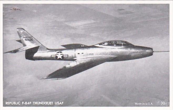 Military United States Air Force Republic F-84F Thunderjet