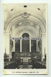 cu1905 - Interior of St. Peter's Church, Vere St. W.1, London  - Postcard
