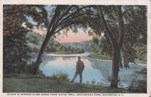 Island in Genesee River - Maplewood Park, Rochester, New York - WB