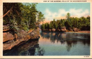 Wisconsin Dells Foot Of The Narrows Wisconsin River 1939 Curteich