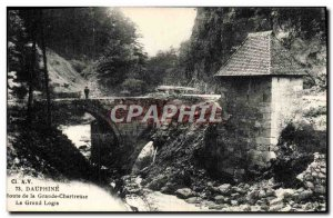 Old Postcard Dauphine Route Grande Chartreuse big house