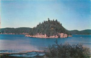 Marble Island Vermont~View From Malletts Bay~1950s Postcard
