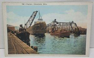 Cleveland Ohio Harbor Vintage Postcard