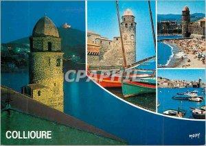 Modern Postcard Collioure Church (Historic Monument seventeenth century) and ...