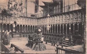 Spain Old Vintage Antique Post Card Catedral Toledo Unused