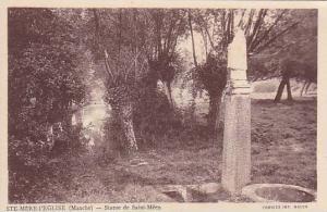 STE-MERE-l'EGLISE ,France, 00-10s ; Statue de Saint Meen