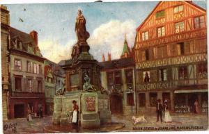 CPA ROUEN-Statue de Jeanne d'Arc Place de la Pucelle (348788)