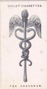 Wills Cigarette Card Lucky Charms No 16 The Caduceaus