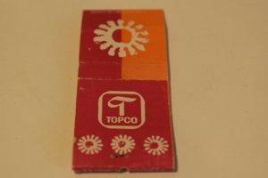 Topco Sun Pink 20 Strike Matchbook Cover
