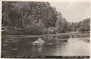 RPPC Chauncey's Resort on Lawrence Lake - Westfield WI, Wisconsin