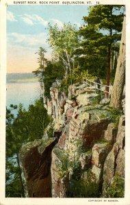 VT - Burlington. Sunset Rock, Rock Point