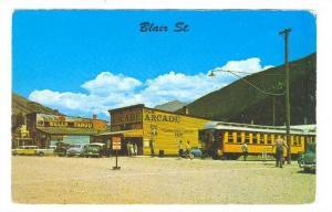 Narrow Gauge, R.R. stop at Blair Street in Silverton, Colorado, 40-60s