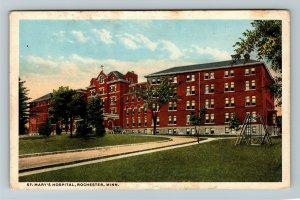 Rochester MN-Minnesota, St Mary's Hospital, Vintage Postcard