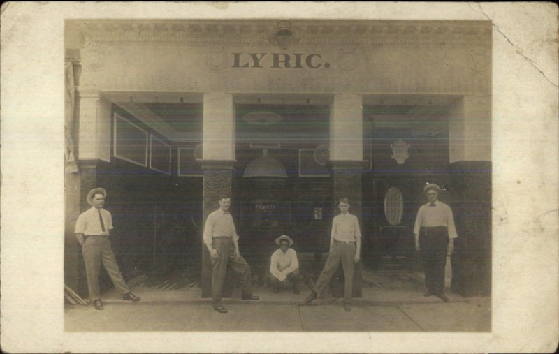 Lyric Theatre Unidentified Amateur Real Photo Postcard c1910