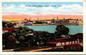 Cuba Havana Seen From Morro Castle 1938