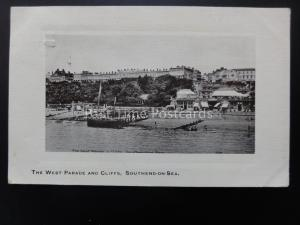 Essex SOUTHEND on SEA The West Parade & Cliffs shows ROYAL HOTEL c1910 Postcard