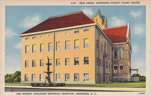 New Annex Anderson County Court House And Robert Anderson Memorial Fouintain ...