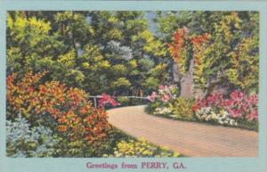 Georgia Greetings From Perry Landscape Scene