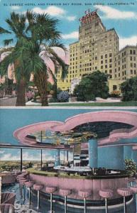 California San Diego El Cortez Hotel and Famous Sky Room Lounge