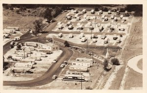 F68/ North Olmsted Cleveland Ohio RPPC Postcard c1950s Foster's Trailer Park