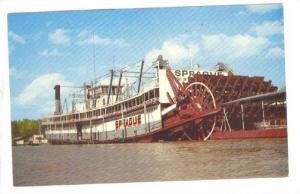 The Showboat Sprague, Vicksburg, Mississippi, 40-60s