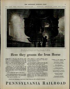 1927 Pennsylvania Railroad Man Working on Train Vintage Print Ad 3907