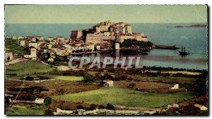 Postcard Old Calvi Beach Vue Generale Campaign and the Port