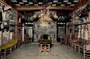 St. Louis, Missouri - The Interior of the Sun Set Inn - in 1913