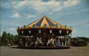 South Carver MA Edaville RR Carousel Merry-Go-Round Postcard