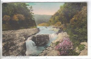 Lower Falls,Letchworth State Park-New York (Hand Colored)