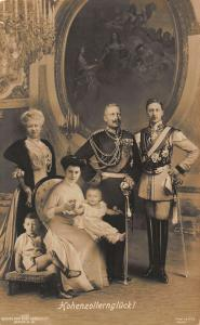 Kaiser Wilhelm II of Germany and Family Hohenzollerngluck Postcard
