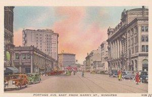 WINNIPEG, Manitoba, Canada, 1910-1930s; Portage Avenue East From Garry Street