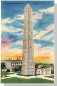Boston/Charlestown, Mass/MA Postcard, Bunker Hill Monument