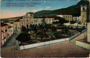 PC CPA AZORES / PORTUGAL, S. MIGUEL, JARDIM DE VILLA FRANCA, POSTCARD (b13506)