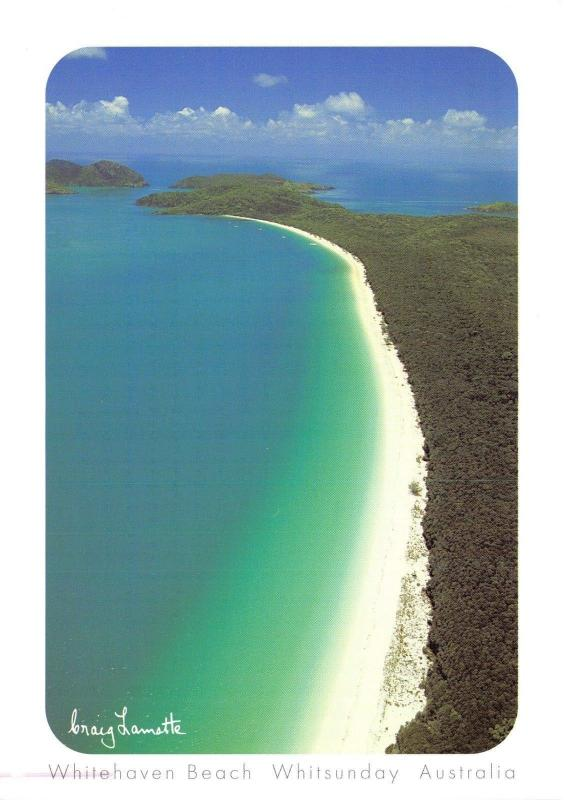 Postcard Whitehaven Beach, Whitsunday, Australia, Large Format Card H45