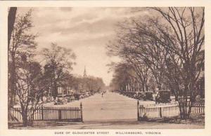 Virginia Williamsburg Duke Of Gloucester Street Albertype